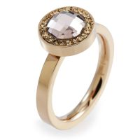 Ladies Folli Follie PVD rose plating Size L.5 Classy Ring