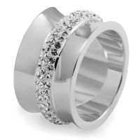 Ladies Folli Follie Stainless Steel Size P Dazzling Ring