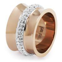 Ladies Folli Follie PVD rose plating Size L.5 Dazzling Ring 5045.4525