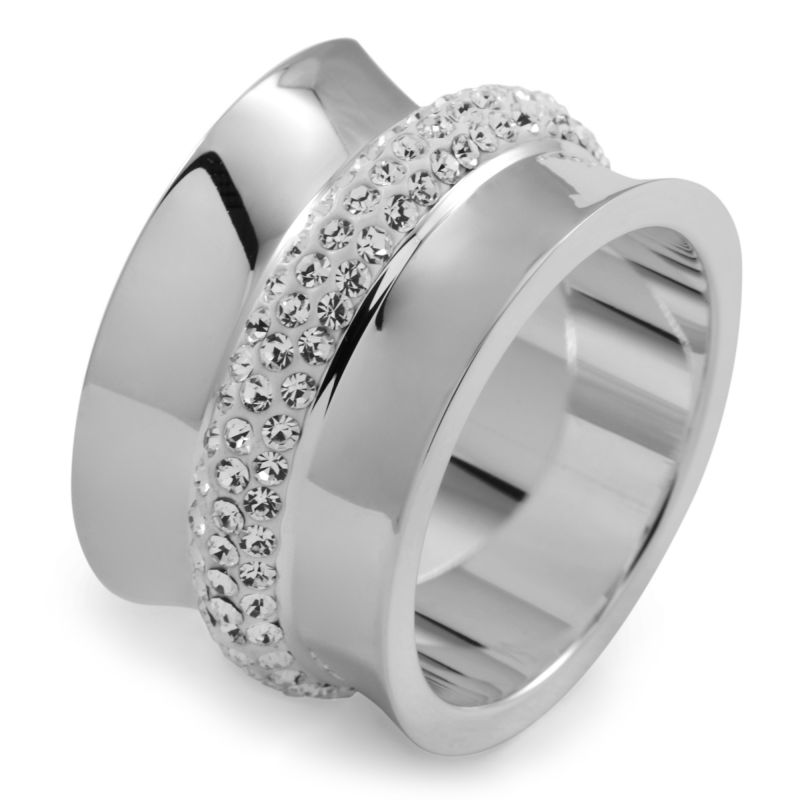 Ladies Folli Follie Stainless Steel Size N.5 Dazzling Ring 5045.4622