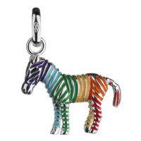Ladies Links Of London Sterling Silver Keepsakes Rainbow Zebra Charm