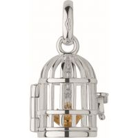 Ladies Links Of London Sterling Silver Keepsakes Birdcage Ss&Gp Chm Charm 5030.1812