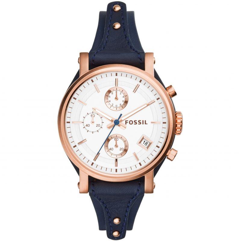Damen Fossil Original Boyfriend Chronograph Watch ES3838