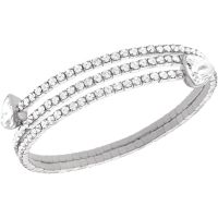 Ladies Swarovski Stainless Steel Twisty Bracelet