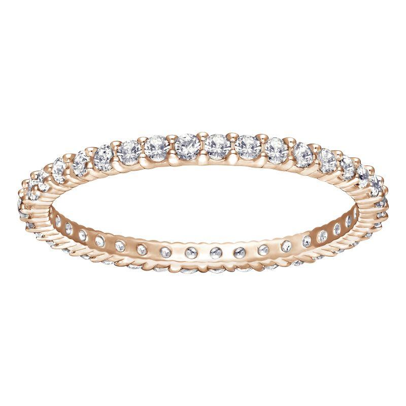 Ladies Swarovski PVD rose plating Vittore Ring 55 5083129