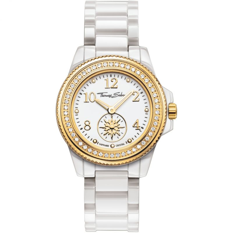 Ladies Thomas Sabo Glam Chic Ceramic Watch WA0170-206-202-33MM