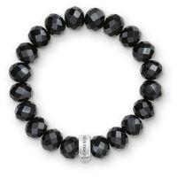 femme Thomas Sabo Jewellery Charm Club Black Obsidian Bracelet Watch X0035-023-11-L