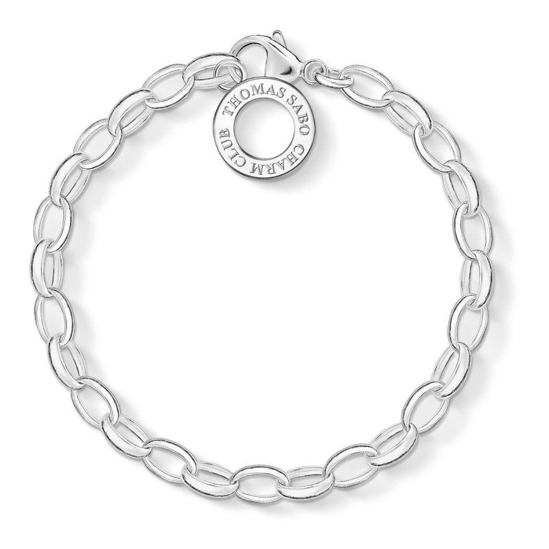 Ladies Thomas Sabo Sterling Silver Charm Club Charm Bracelet X0032-001-12-L
