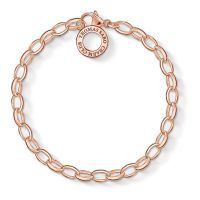 Ladies Thomas Sabo Rose Gold Plated Sterling Silver Charm Club Charm Bracelet