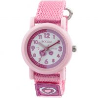 Tikkers Time Teacher Barnklocka Rosa TK0112