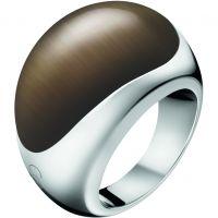 Damen Calvin Klein Edelstahl Größe O Closed Ring