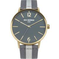 Herren Ben Sherman London Portobello Streifen Uhr