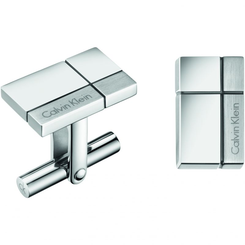 Mens Calvin Klein Stainless Steel Constructed Cufflinks KJ3PMC090100