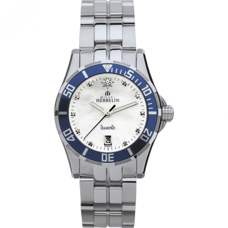 Ladies Michel Herbelin Newport Trophy Diamond Watch 14290/BL89B