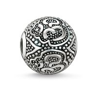 Ladies Thomas Sabo Sterling Silver Karma Beads Om Bead K0042-001-12