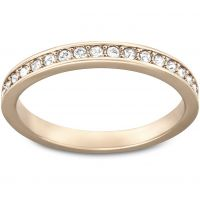 Damen Swarovski PVD Rosa plating Größe L.5 Rare Ring 52