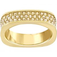 Ladies Swarovski PVD Gold plated Size S Vio Ring 60