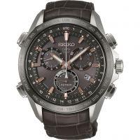 Herren Seiko Astron GPS Chronograph Solar Powered Watch SSE023J1