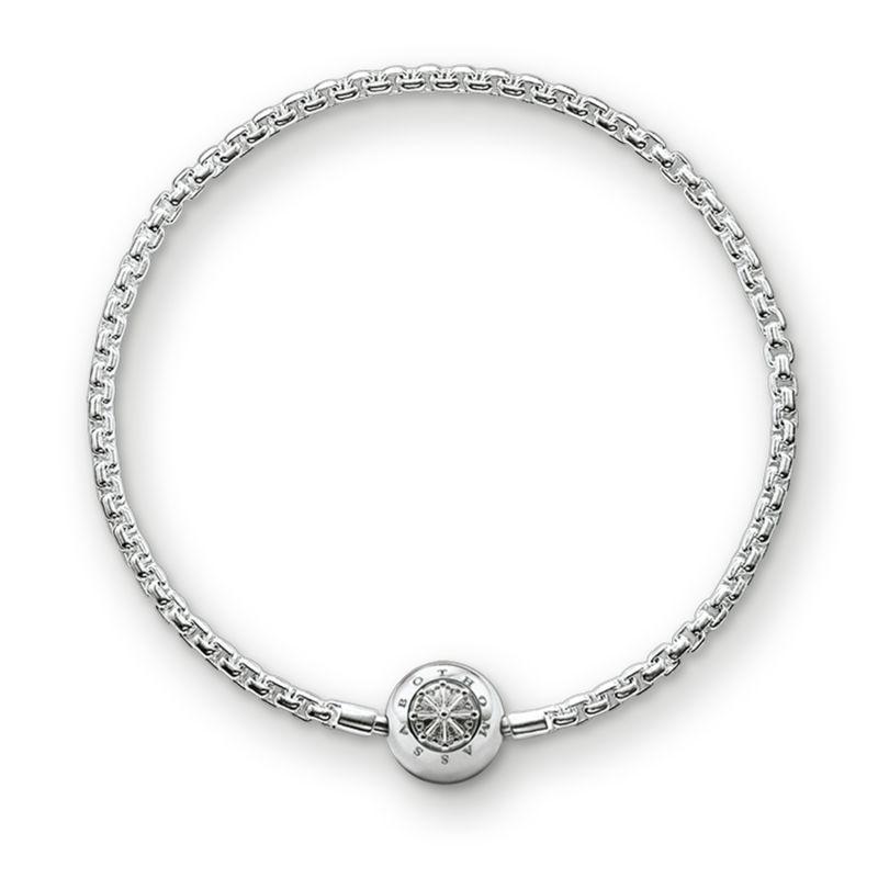 Ladies Thomas Sabo Sterling Silver Karma Beads Bracelet KA0001-001-12-L17