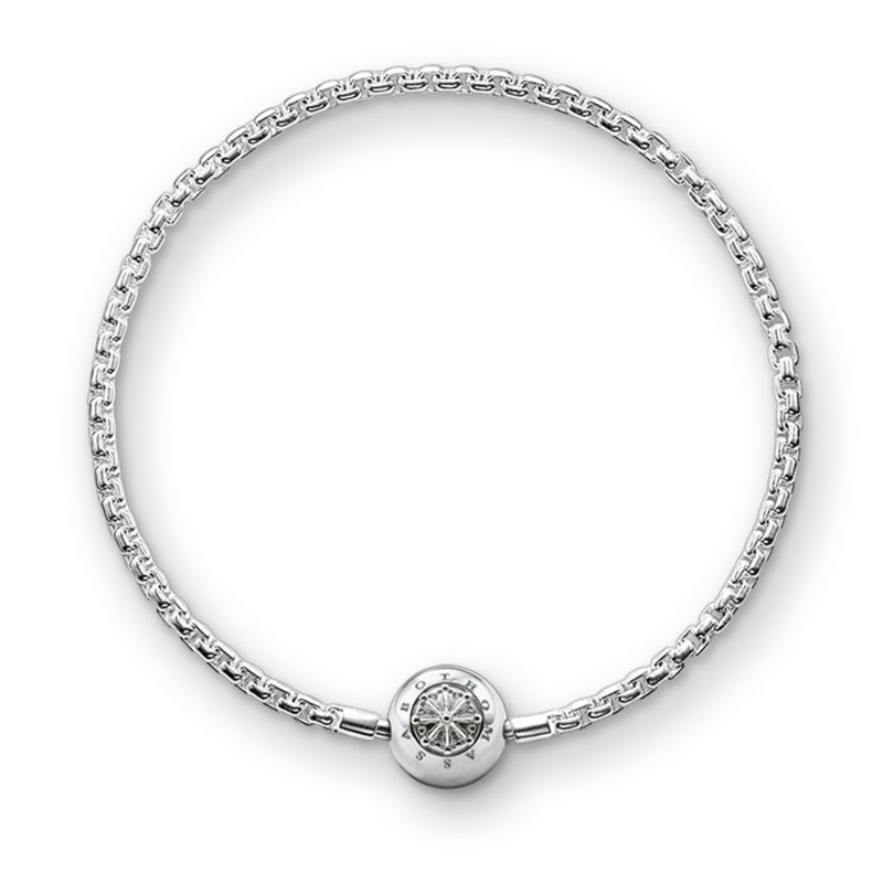 Ladies Thomas Sabo Sterling Silver Karma Beads Bracelet KA0001-001-12-L19