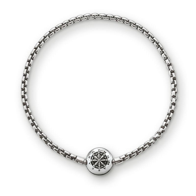 Ladies Thomas Sabo Sterling Silver Karma Beads Bracelet 18Cm KA0002-001-12-L18