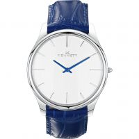 Herren Kennett Kensington Silber Weiß Königsblau Uhr