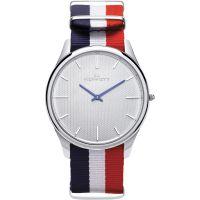 Herren Kennett Kensington Silber Weiß RWB Nato Uhr