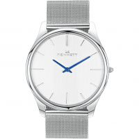 Mens Kennett Kensington Silver White Milanese Watch