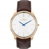Mens Kennett Kensington Rose Gold White Dark Brown Watch