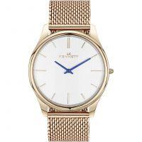 Herren Kennett Kensington Rose Gold Weiß Milanaise-Geflecht  Uhr