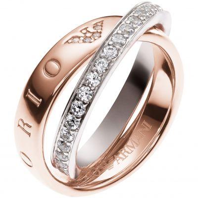Emporio Armani Jewellery Pure Eagle Circles Ring JEWEL
