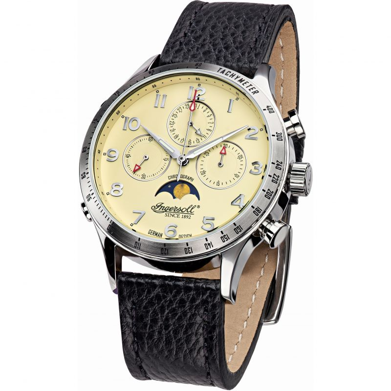 Mens Ingersoll Automatic Automatic Chronograph Watch IN1227SCR