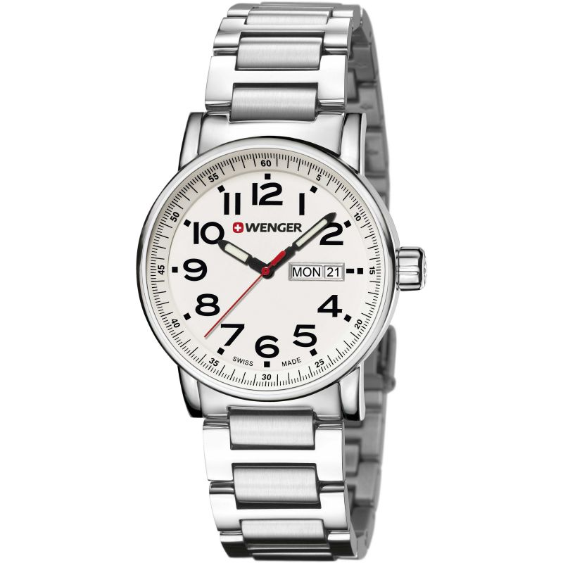 Mens Wenger Attitude day date Watch 010341102