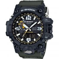 homme Casio G-Shock Premium Mudmaster Compass Alarm Chronograph Radio Controlled Tough Solar Watch GWG-1000-1A3ER