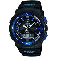 Mens Casio Sports Gear Compass Thermometer Alarm Chronograph Watch