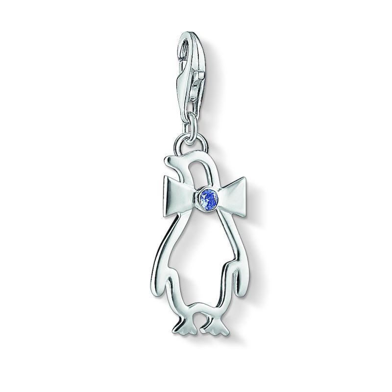 Ladies Thomas Sabo Sterling Silver Charm Club Penguin Charm 1296-009-32