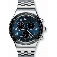 Mens Swatch Boxengasse Chronograph Watch YVS423G