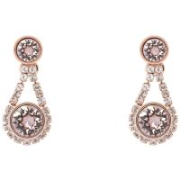 Ladies Ted Baker PVD rose plating Stormm Crystal Chain Earring