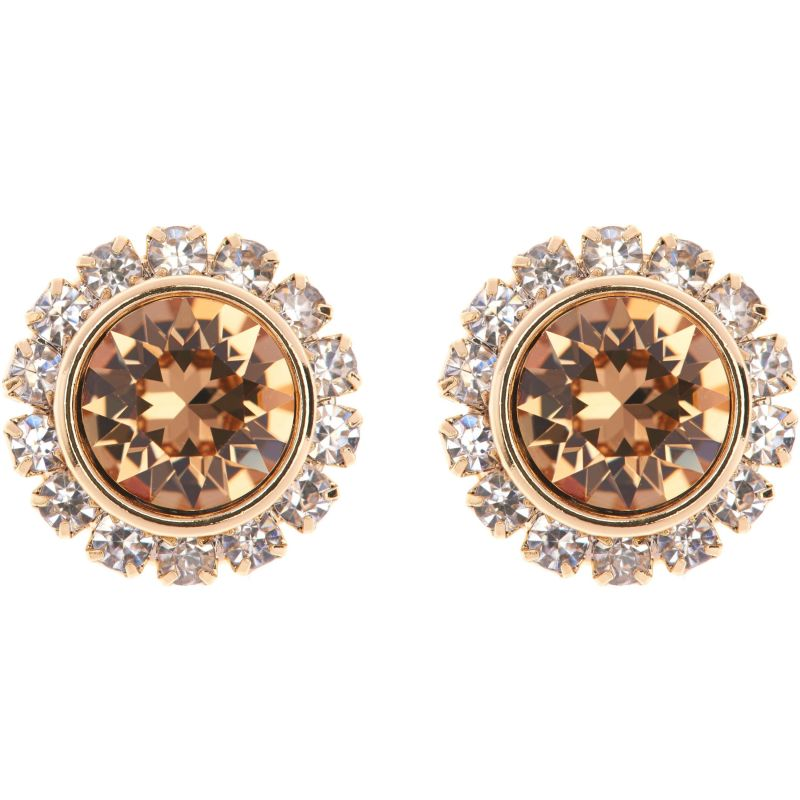 Ladies Ted Baker PVD Gold plated Sully Crystal Daisy Stud Earring TBJ854-02-96