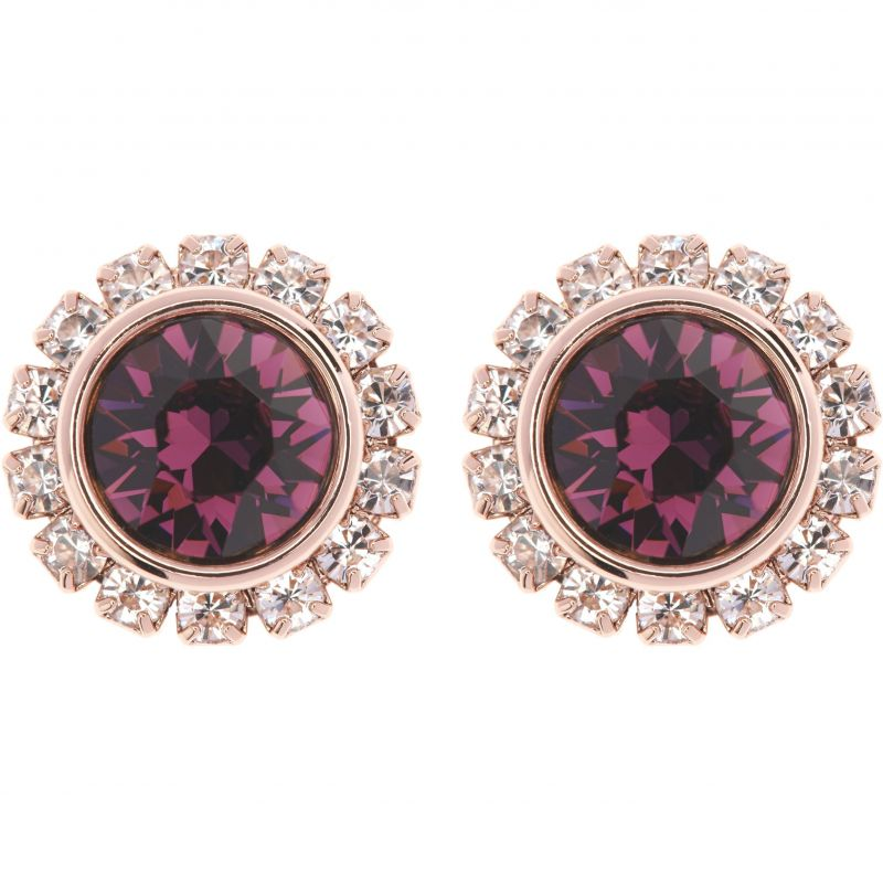 Ladies Ted Baker PVD rose plating Sully Crystal Daisy Stud Earring TBJ854-24-44