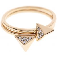femme Karen Millen Jewellery Double Arrow Ring Large Watch KMJ864-22-23L