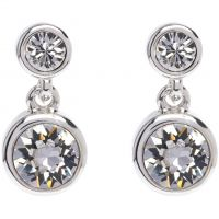 Ladies Karen Millen PVD Silver Plated Crystal Dot Earring