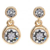 Ladies Karen Millen PVD Gold plated Crystal Dot Earring KMJ879-22-02