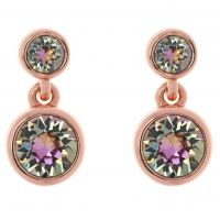Ladies Karen Millen Rose Gold Plated Crystal Dot Earrings KMJ879-24-99