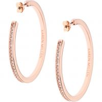 femme Karen Millen Jewellery Large Hoop Earrings Watch KMJ173-24-02
