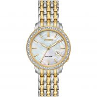 Damen Citizen Silhouette Diamond Eco-Drive Watch EW2284-57D