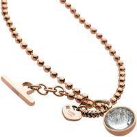 Ladies STORM PVD rose plating Crysta Ball Necklace