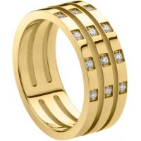 Ladies STORM PVD Gold plated Size P Zella Ring