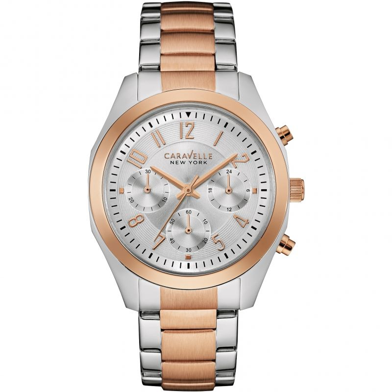 Ladies Caravelle New York Melissa Chronograph Watch 45L149