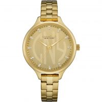 Ladies Caravelle New York Round Slim Watch